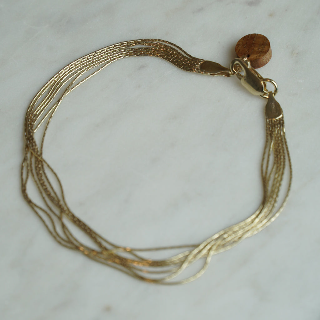 Gold with the Flow Bracelet/Anklet