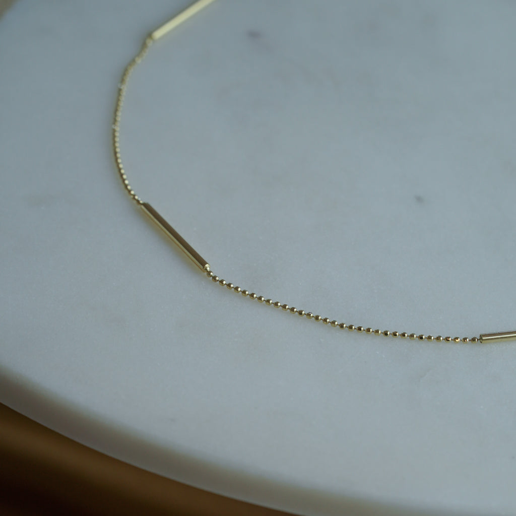 Ala Ala Choker in 14k Gold