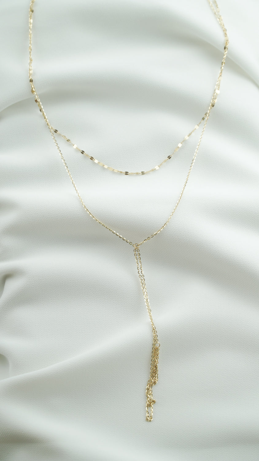 14K GOLD Pele's Tears Necklace