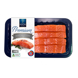 Premium Fresh Huon Salmon Portions 4 Pack - Skin On