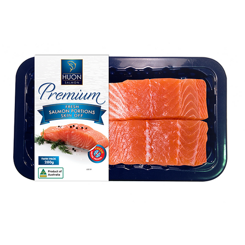 Premium Fresh Huon Salmon Portions 2 Pack - Skin Off