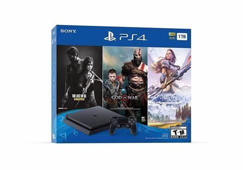 PLAYSTATION PS4 1TB – Con juegos GOD OF WAR / HORIZON ZERO DAWN / THE LAST OF US