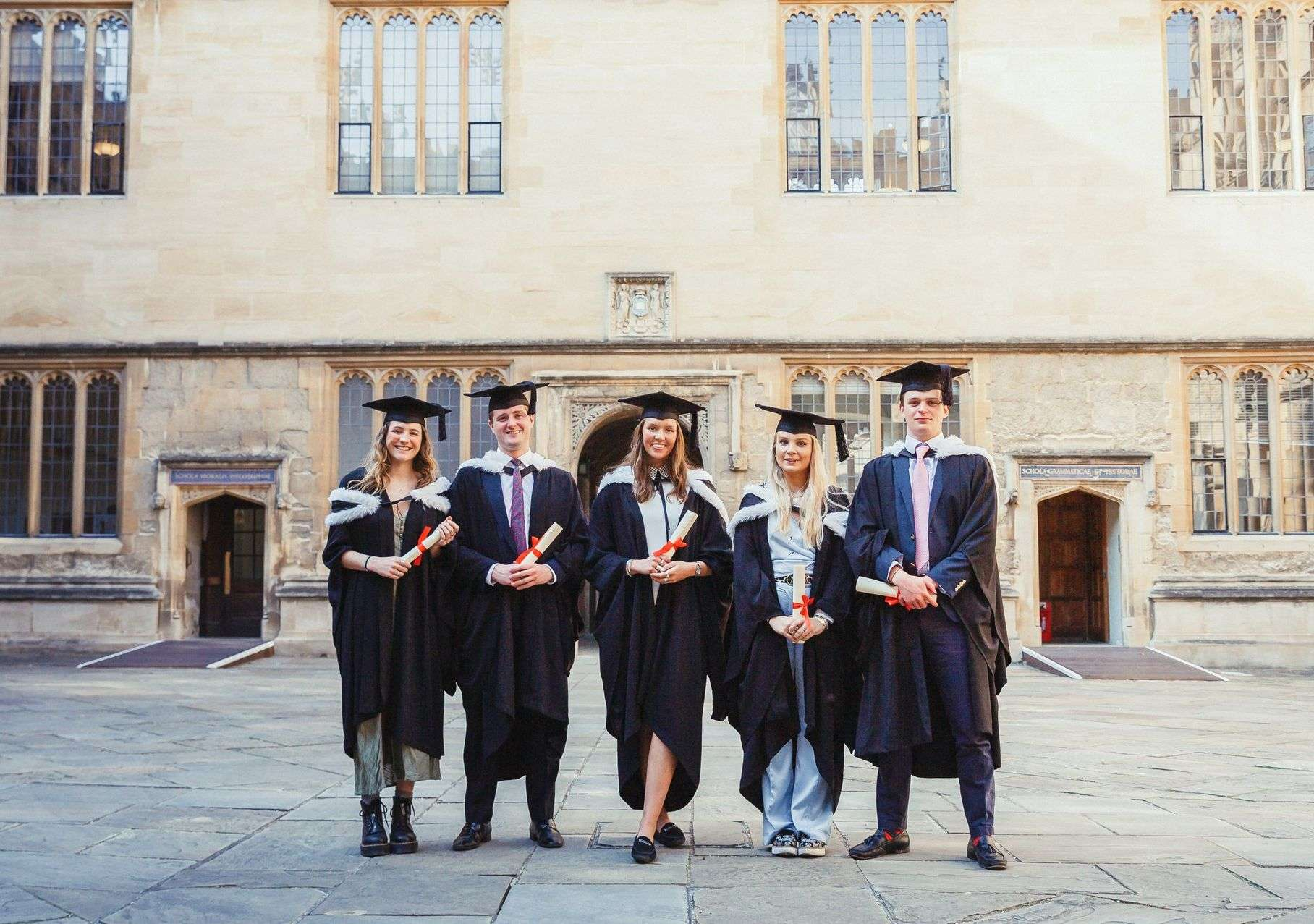 Group of Graduates in Gowns