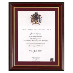 Single Traditional Certificate Frame