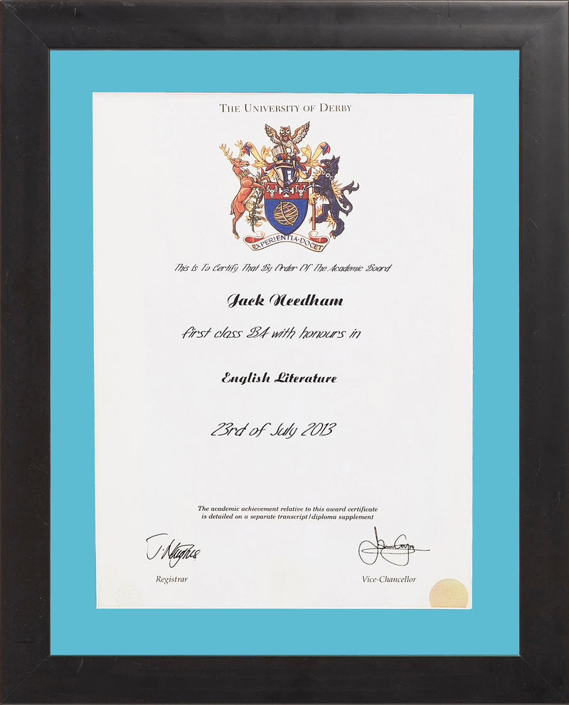 Single Modern Certificate Frame
