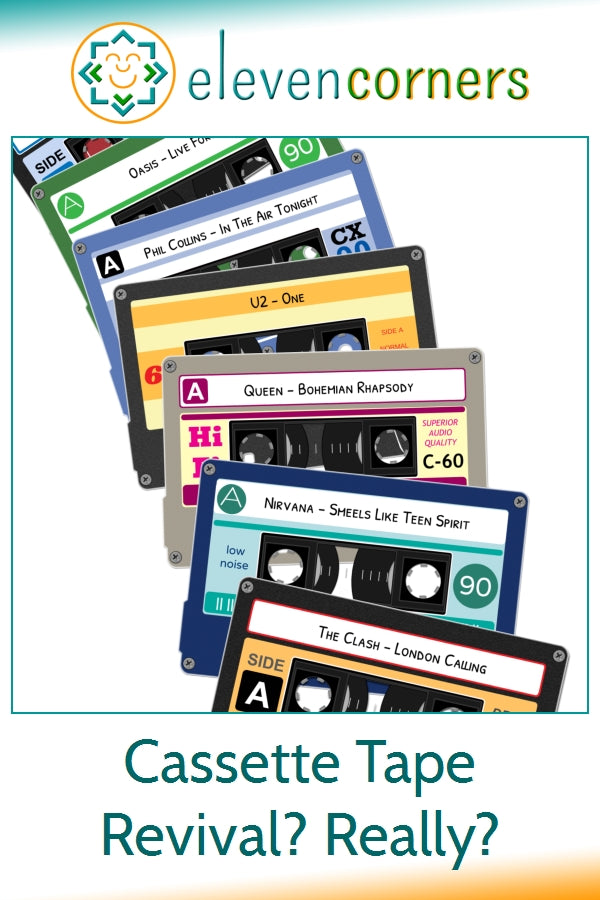 Cassette tape revival and personalised cassette tape prints