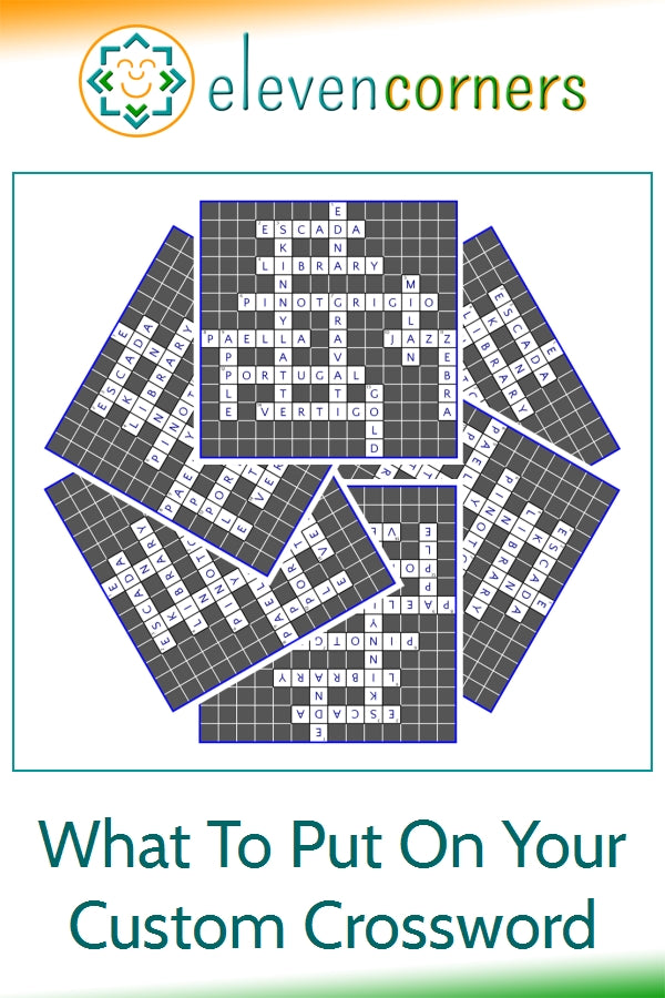 Custom crossword puzzles ideas - what to put on your crossword