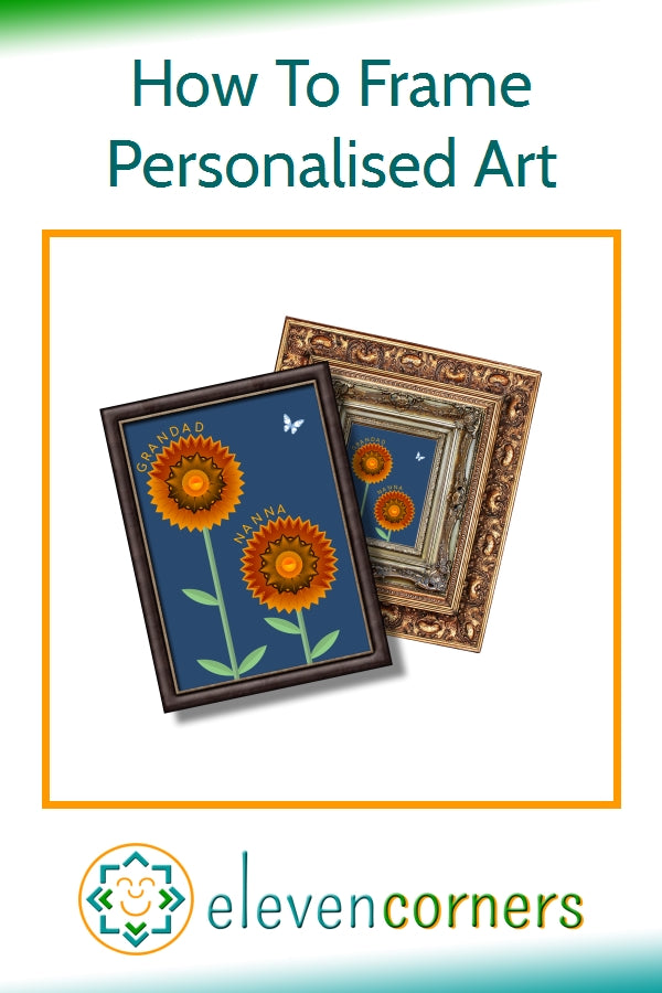 How To Frame Personalised Art