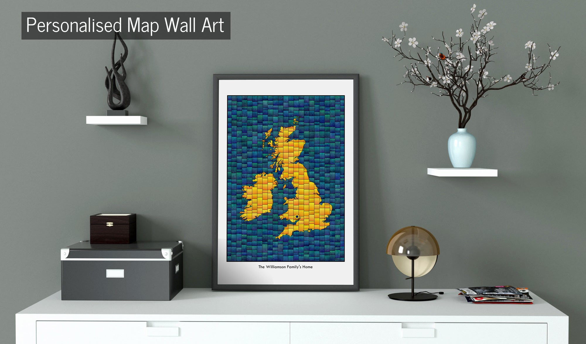 Personalised Map Wall Art