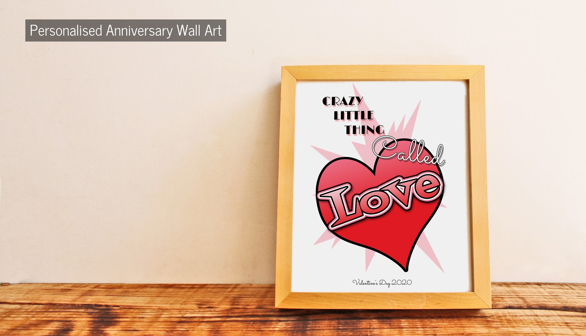 Personalised Anniversary Wall Art