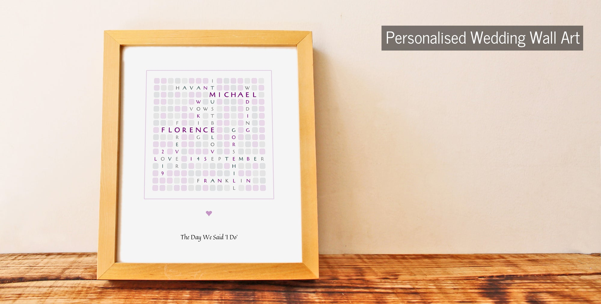 Personalised Wedding Wall Art