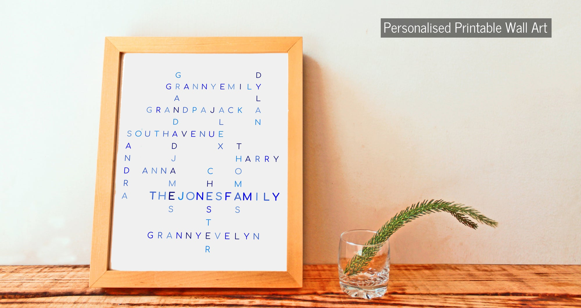 Personalised Printable Wall Art