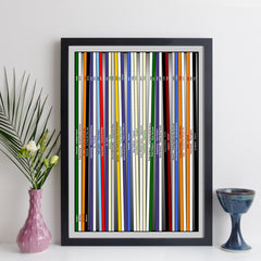 personalised record collection prints