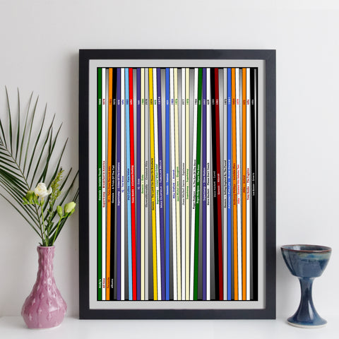 personalised record collecton print