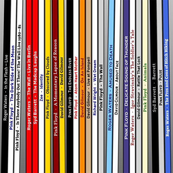 Pink Floyd Record Collection print
