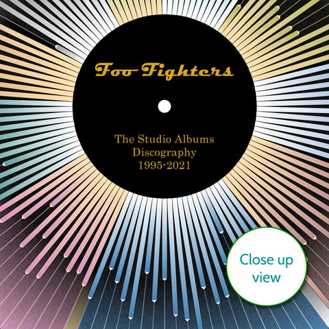 Foo Fighters Discography Wheel Wall Art