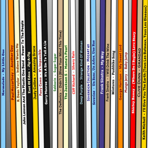 year of music record collection print
