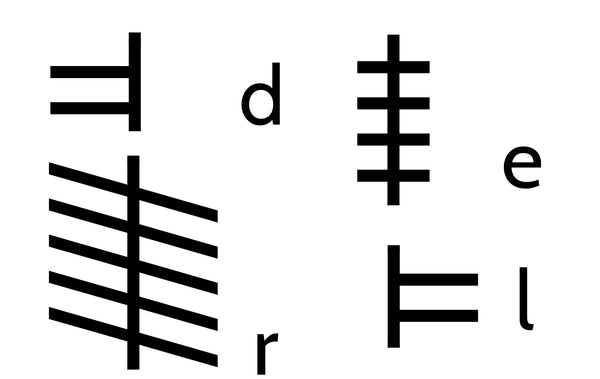 Ogham letters