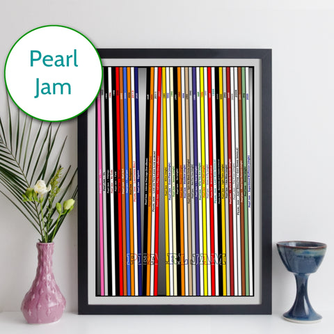 Pearl Jam Discography Record Collection Print