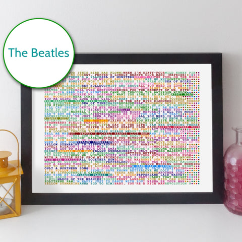 The Beatles albums and songs print