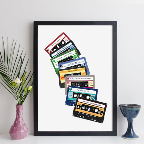 personalised cassette tape prints
