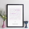 Personalised Wedding Crossword Print - contemporary style