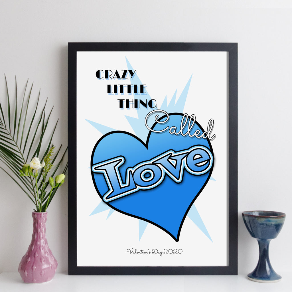 Crazy Little Thing Called Love personalised song print