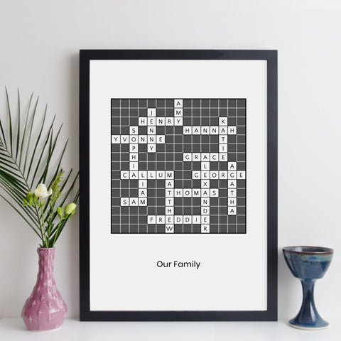personalised crossword by elevencorners