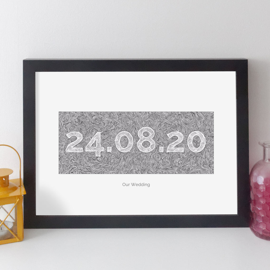 Personalised Date Print - Contemporary Modern