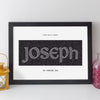 Personalised Name Print - Antique