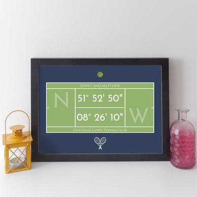 Personalised Tennis Court Wall Art