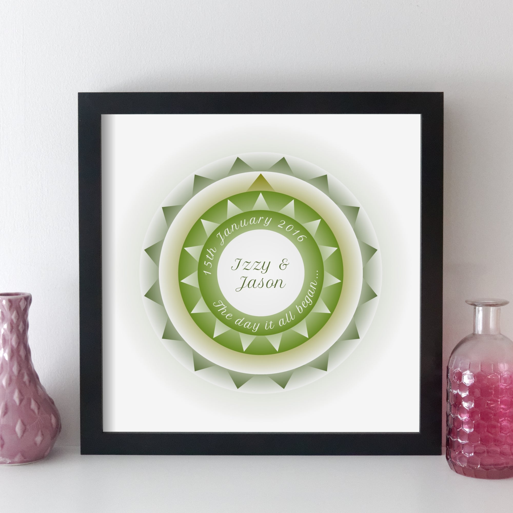Personalised Special Date Wall Art - Geometric Art