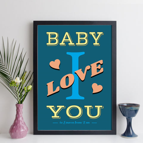 Personalised Baby I Love You wall art by elevencorners