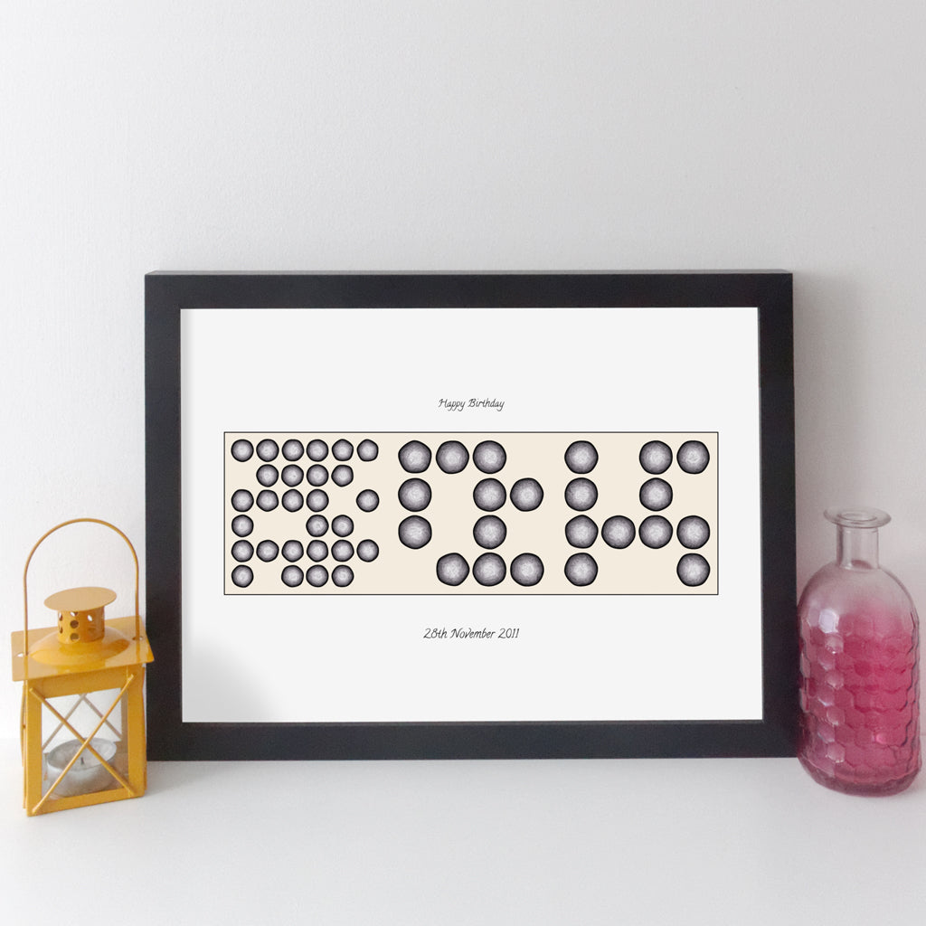 Personalised Date Wall Art - Geometric Art