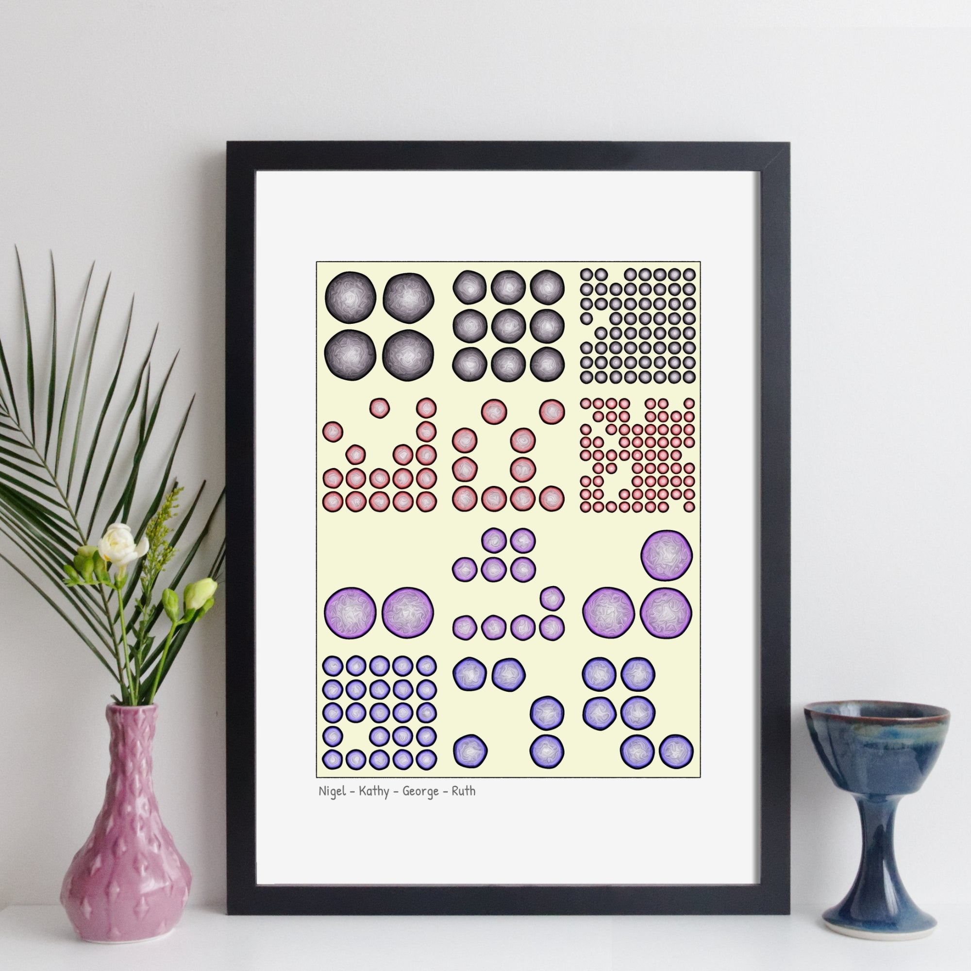 Personalised Memorable Dates Wall Art - Geometric Art