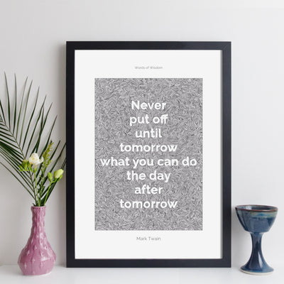 Personalised Quote Print - Contemporary Modern