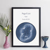 personalised ireland map wall art by elevencorners