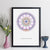 Personalised Date Mandala Geometric Wall Art
