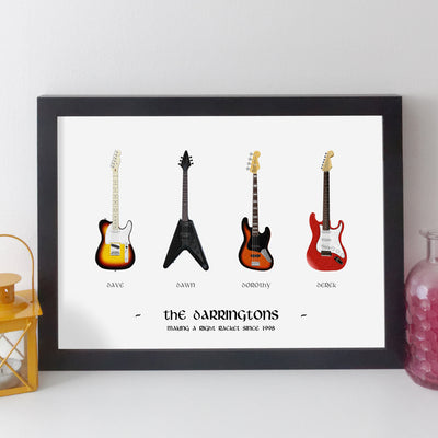 Personalised Family Music Print