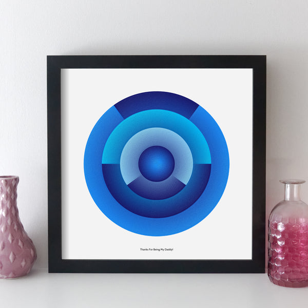 personalised special date geometric wall art by elevencorners