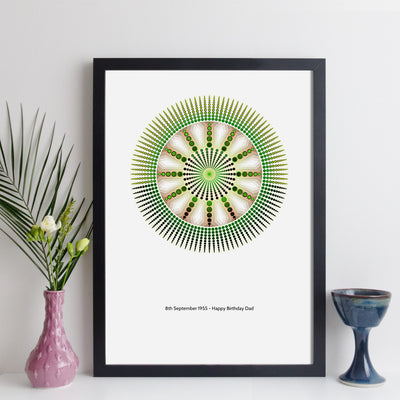 Personalised Special Date Mandala Geometric Wall Art
