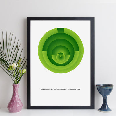 Personalised Special Date And Time Wall Art - Geometric Art