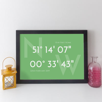 Personalised Coordinates Print (classic style)