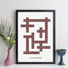 Personalised Travel Crossword Print - Light Text