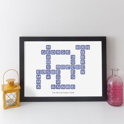 elevencorners family names crossword - blue