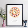 Personalised Time And Date Mandala Geometric Wall Art