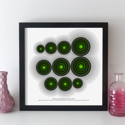 Personalised Favourite Music Album Print - songcircles style