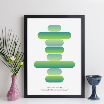 Personalised Favourite Music Album Art Print - round style