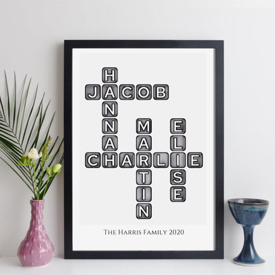 elevencorners family names crossword - black