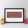 Personalised Family Name Print (pale text style)